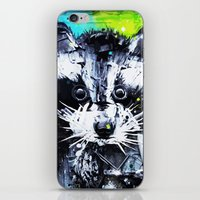 raccoon iPhone & iPod Skins featuring RACCOON by Maioriz Home