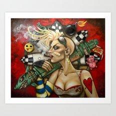 Tank Girl Nouveau Art Print