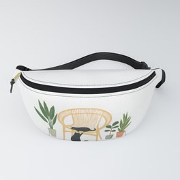 Lazy cat 3b play with me Fanny Pack