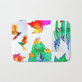 Watercolor Garden Bath Mat