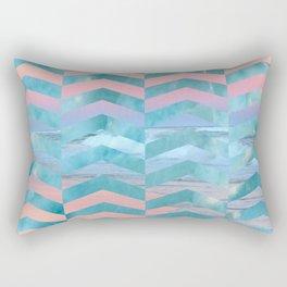 Seafoam Sunset -Wide Chevrons Rectangular Pillow