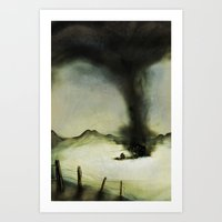Barn vs Tornado Art Print
