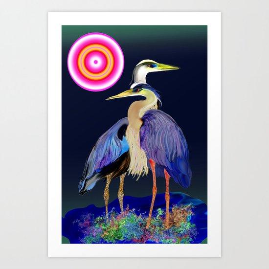 heron 2 Art Print