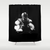 bane Shower Curtains featuring Bane by NickHarriganArtwork