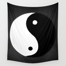 Yin and Yang BW Wall Tapestry