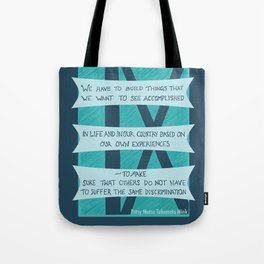 Build, Don't Suffer Tote Bag