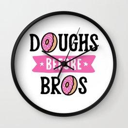 Doughs Before Bros Wall Clock