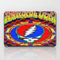 grateful dead iPad Cases featuring Grateful Dead #8 Optical Illusion Psychedelic Design by CAP Artwork & Design