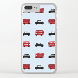 London Buses and Taxis Clear iPhone Case