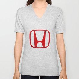 Honda Logo red Unisex V-Neck