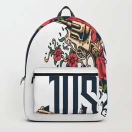 Guns And Love  sailor and boatman sea tattoo lover gift Backpack
