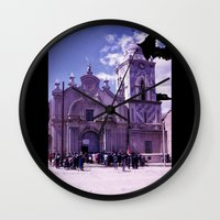 dad Wall Clocks featuring Dad by Hector Wong