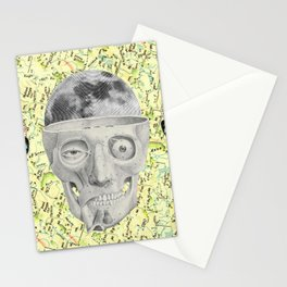 poor skeleton steps out Stationery Cards