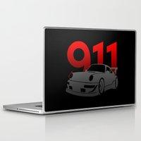 porsche Laptop & iPad Skins featuring Porsche 911 by Vehicle