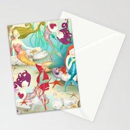 Mermaids Neck Gator Mermaid Friends Beautiful Mermaid Stationery Cards