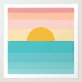 sunrise /sunset Art Print