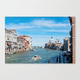 View from the bridge in Venice Canvas Print