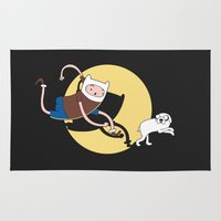 tintin Area & Throw Rugs featuring Adventure Tin by Moysche Designs