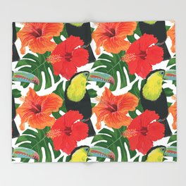 Toucan pattern Throw Blanket