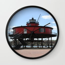 Seven Foot Knoll Lighthouse Wall Clock
