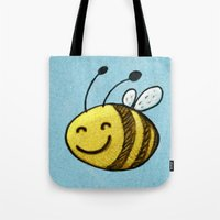 bee Tote Bags featuring Bee by MaComiX