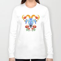 chinese Long Sleeve T-shirts featuring chinese goat by Manoou