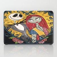 jack skellington iPad Cases featuring Jack Skellington and Sally 2 by KittyOG