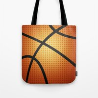 basketball Tote Bags featuring Basketball by Debra Ulrich