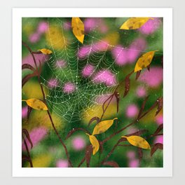 autumn spiderweb Art Print