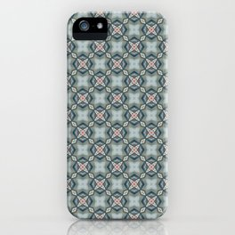 Blue & Coral Geometric Pattern iPhone Case