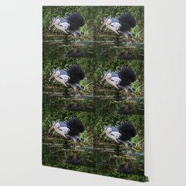 Heron Take-off Wallpaper