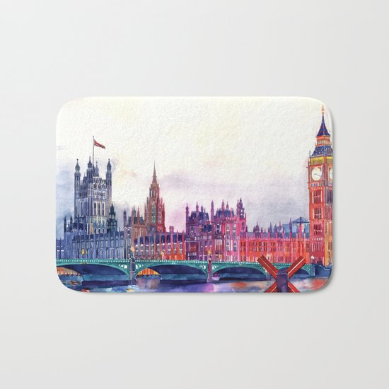Sunset in London Bath Mat