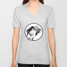 This is Z-Day - The Happy Couple (white window) Unisex V-Neck