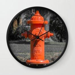 Orange Clow Medallion Fire Hydrant Orange Fire Plug Wall Clock