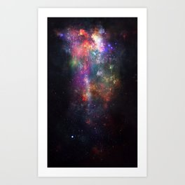 The Melting of Our Space-Time Fabric Art Print