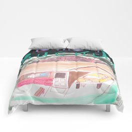 """""""One-Story-Carport-Houses"""" / Frontier Ruckus Song Illustrations, Series 1 (11/15) Comforters"""