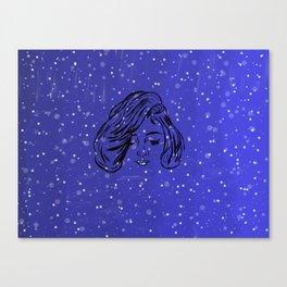Indigo stars by night Canvas Print
