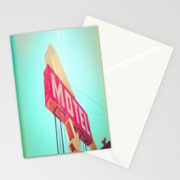 Americana Motel Sign Stationery Cards