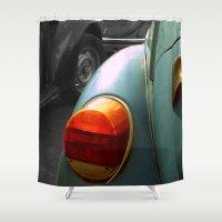 volkswagen Shower Curtains featuring Volkswagen by habish