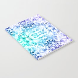 Floral Print - Teal & Purple Notebook