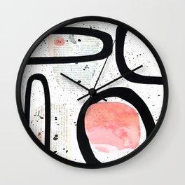 Jareth black rainbow collage Wall Clock