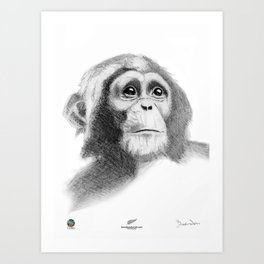 Monkey Boy 1 Art Print