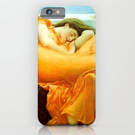 Flaming June Painting By Frederic Leighton iPhone Case