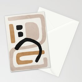 Abstract shapes art, Mid century modern art Stationery Cards