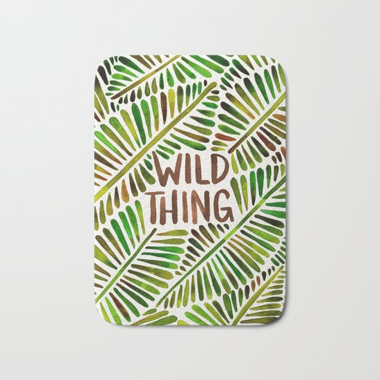 Wild Thing – Green Palette Bath Mat