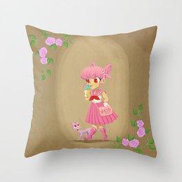 Retro Sailor Chibi Moon Throw Pillow