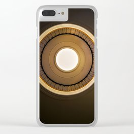 Round staircase in brown tones Clear iPhone Case