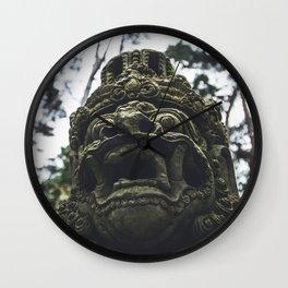 Balinese Mask Wall Clock