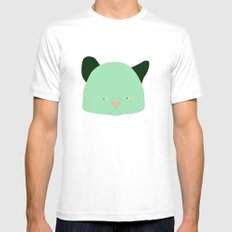 Pussy Verde Mens Fitted Tee White MEDIUM
