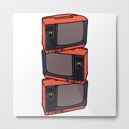 Retro Vibes : TVs Metal Print